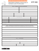 Form Dtf-505 - Authorization For Release Of Photocopies Of Tax Returns And/or Tax Information