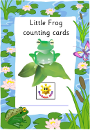 Little Frog Counting Cards Chart