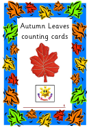 Autumn Leaves Counting Cards Template