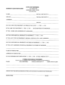 Resident Questionnaire Form - City Of Monroe, Ohio