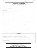 Revoke Election Form - State Employees' Health Insurance Coverage - Alabama