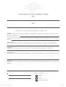 Form Dos-1367-f-l - Certificate Of Correction