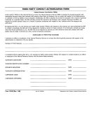 Form 12180 - Third Party Contact Authorization Form