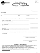 Form Tp-101 - Tobacco Products Tax Form