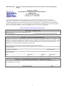 Form Dbpr Abt-6037 - Division Of Alcoholic Beverages And Tobacco License Or Permit Application Waiver