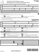Form It-285 - Request For Innocent Spouse Relief (and Separation Of Liability And Equitable Relief) Form