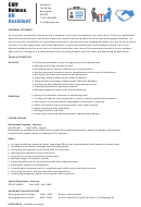Personal Summary Template - Hr Assistant - Brief