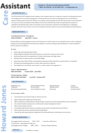 Personal Summary Template - Care Assistant (personal Statement)