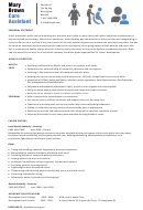Personal Summary Template - Care Assistant (cv, Example)
