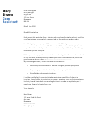Care Assistant Cover Letter Template