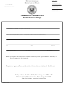 Form Ss984 - 2008 - Transmittal Information For All Business Filings And Foreign Qualification Questionnaire - Louisiana Secretary Of State