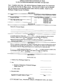 Application Form For Extension Of Time To File Income Tax Return - Muskegon Heights