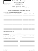 Form Tn-9 - Certificate Of Discontinuance Of Use Of Trade Name