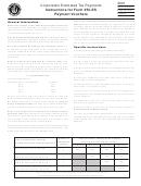Corporation Estimated Tax Payments Instructions For Form 355-es Payment Vouchers - 2001