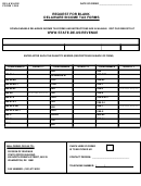 Form 1089 - Request For Blank Delaware Income Tax Form
