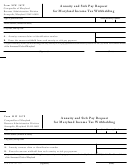 Form Mw 507p - Annuity And Sick Pay Request For Maryland Income Tax Withholding