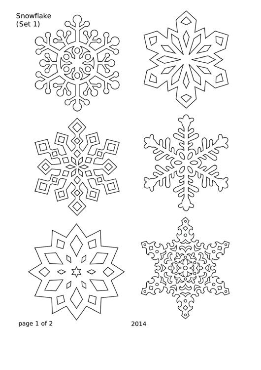 Snowflakes - Set 1 Template