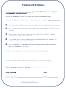 Homework Contract Template