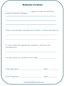 Behavior Contract Template