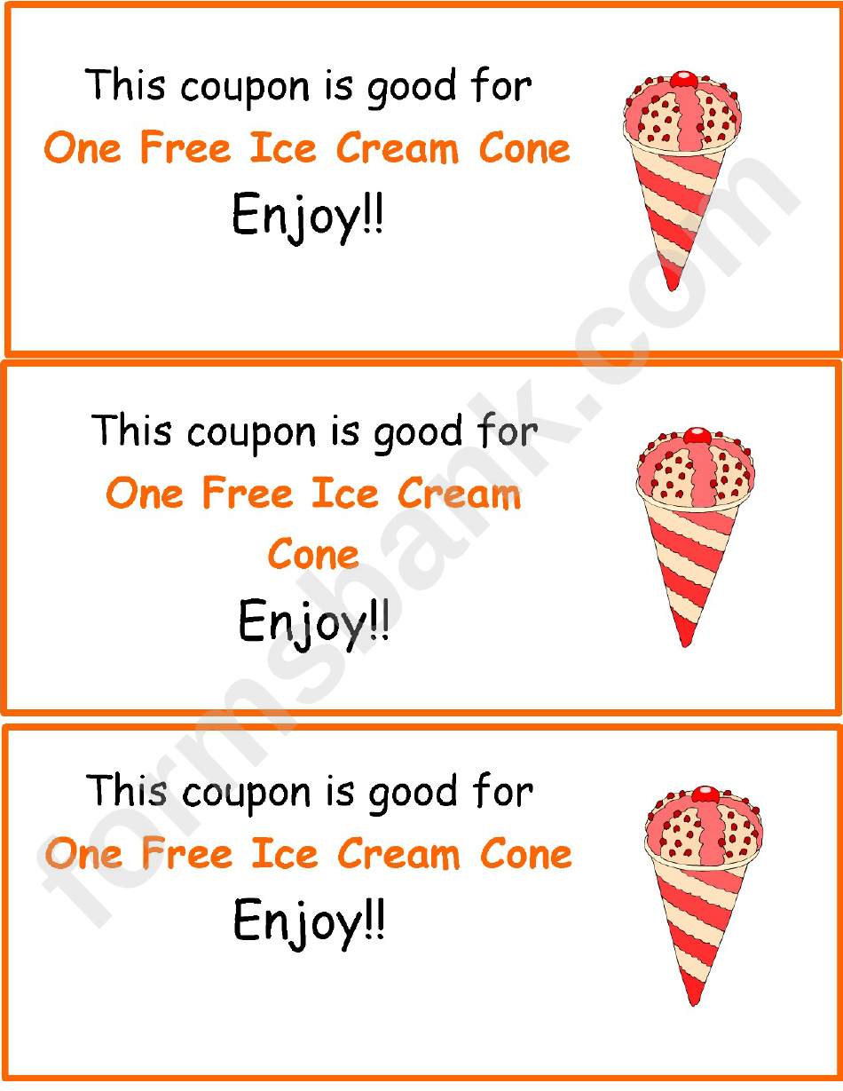 ice cream coupon template printable pdf download