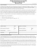 Form 8454t - Taxpayer Filing Election Opt Out Form - Virginia Department Of Taxation - Virginia