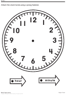 Paper Clock Template With Hands