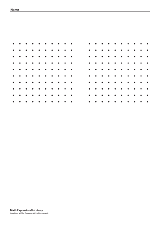 Dot Array Template