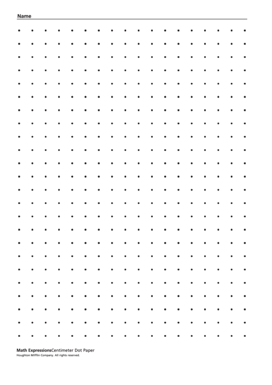 Centimeter Dot Paper Template