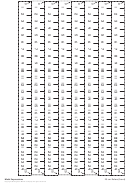 25-cm Rulers (back) Template