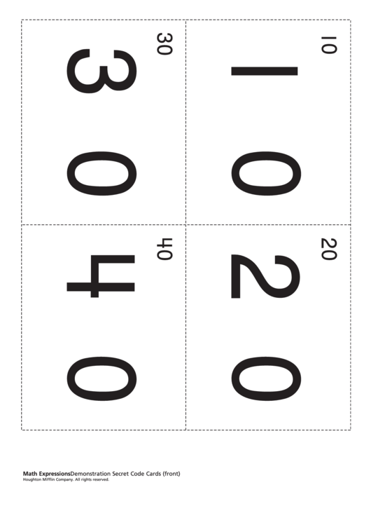 Demonstration Secret Code Cards Worksheet Printable pdf