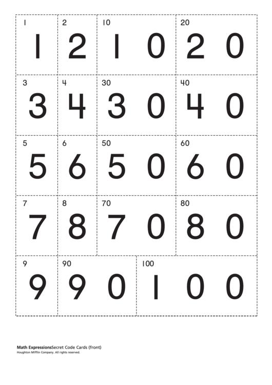 Secret Code Cards Worksheet