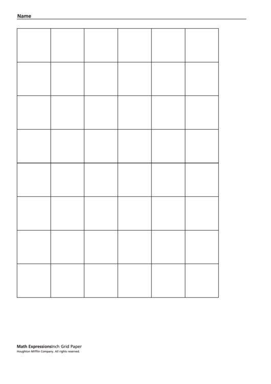 Inch Grid Paper Template Printable pdf
