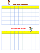 Things I Need To Work On Behaviour Chart - Go Diego