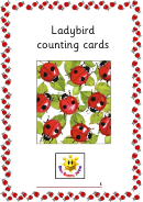Ladybird Counting Cards Template