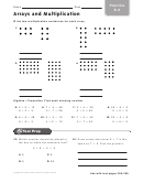 Arrays And Multiplication Worksheet