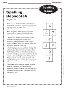 Spelling Hopscotch Template