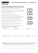 Lattice Multiplication Practice Template