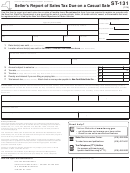 Form St-131 - Seller's Report Of Sales Tax Due On A Casual Sale