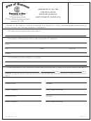 Amendment To The Certificate Of Limited Liability Partnership - Domestic Form - Tennessee Department Of State