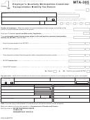 Form Mta-305 - Employer's Quarterly Metropolitan Commuter Transportation Mobility Tax Return
