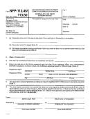 Form Nfp-112.45 - Application Form For Reinstatement Of Domestic/foreign Corporation