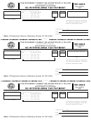 Form Wh-1601x - Withholding Tax Payment Form - Columbia