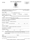 Form 14-541-36 - Tax Registration Certificate Application - City Of Los Angeles