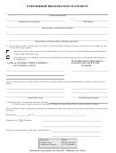 Partnership Registration Statement Template - Florida