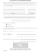 Statement Of Partnership Merger Template - Florida Department Of State