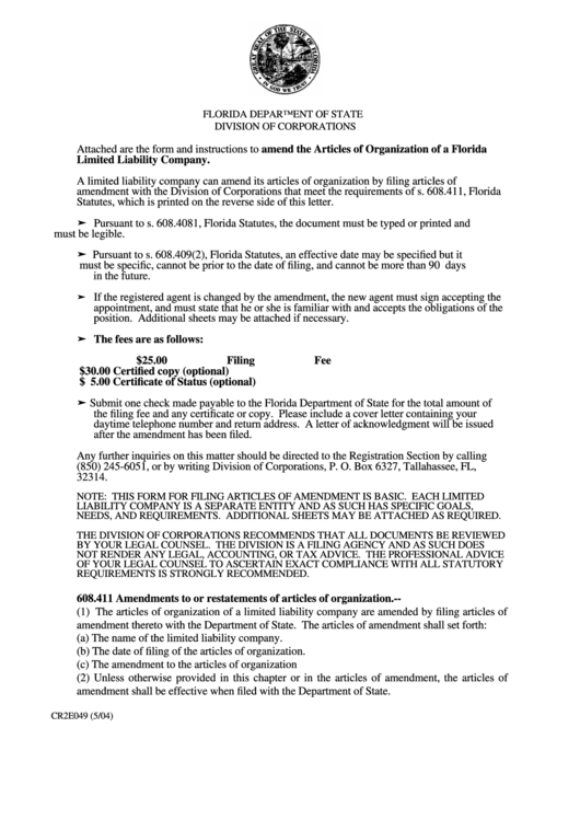 fillable articles of amendment form