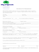 Determination Of Tax Filing Requirement Form - Division Of Taxation Extended