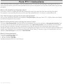 Form Pt-11 Instructions Sheet