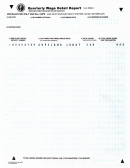 Form 5208 B - Quarterly Wage Detail Report - 2000