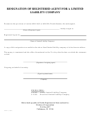 Form Inhs17 - Resignation Of Registered Agent For A Limited Liability Company - Florida Department Of State